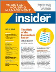 Assisted Housing Management Insider - 12-Issue Subscription