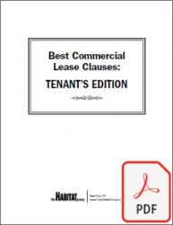 Best Commercial Lease Clauses: Tenant's Edition (PDF DOWNLOAD)